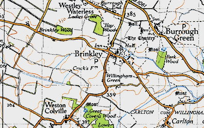 Old map of Brinkley in 1946