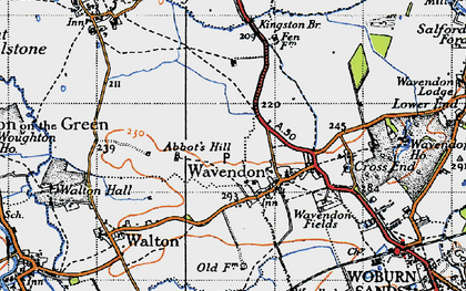 Old map of Brinklow in 1946