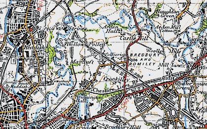 Old map of Brinnington in 1947