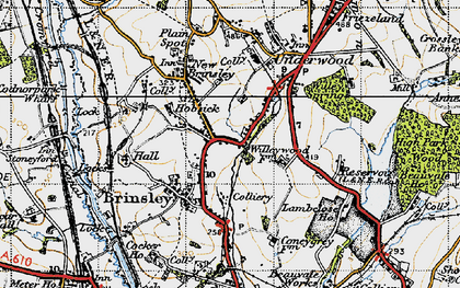 Old map of Willey Spring in 1946