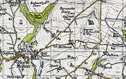 Old map of Barcombe Down in 1946