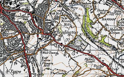 Old map of Brislington in 1946