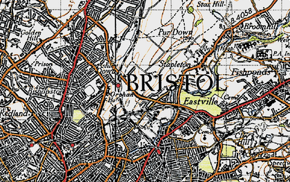 Old map of Bristol in 1946