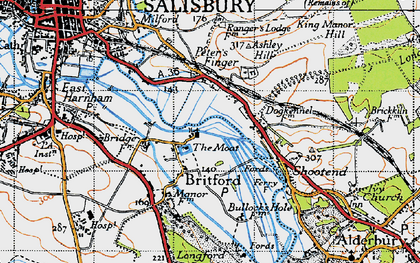 Old map of Britford in 1940