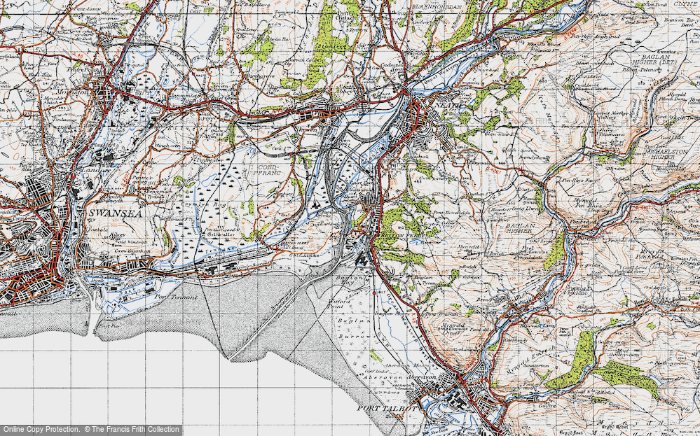 Old Map of Briton Ferry, 1947 in 1947