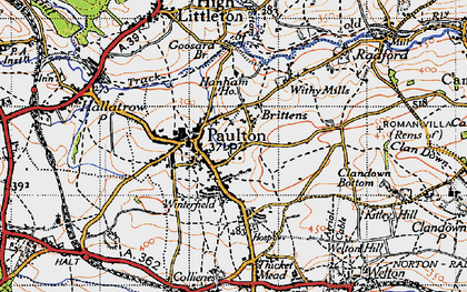 Old map of Britten's in 1946