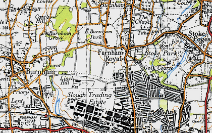 Old map of Britwell in 1945