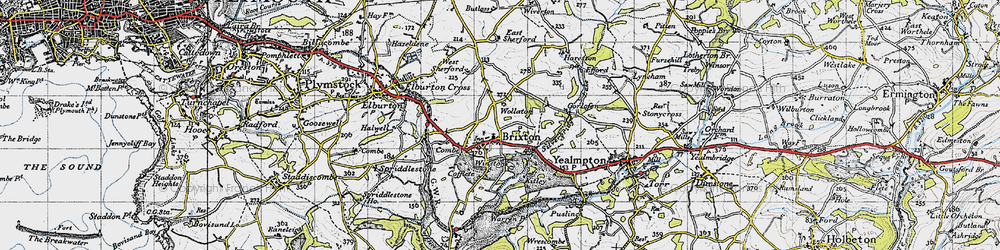 Old map of Winston in 1946