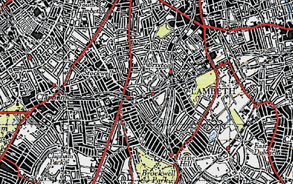 Old map of Brixton in 1946