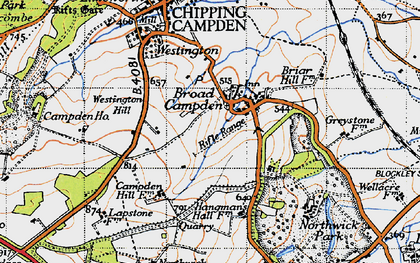 Old map of Westington Hill in 1946