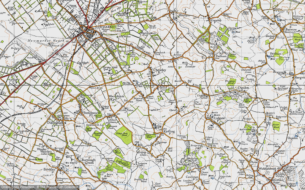 Old Map of Broad Green, 1946 in 1946
