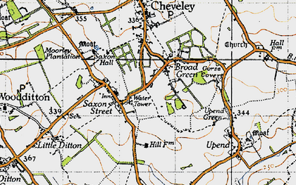 Old map of Broad Green in 1946