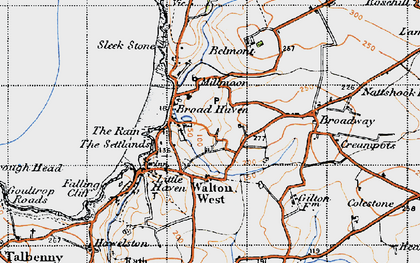 Old map of Broad Haven in 1946