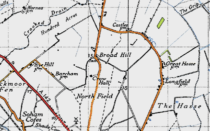 Old map of Broad Hill in 1946