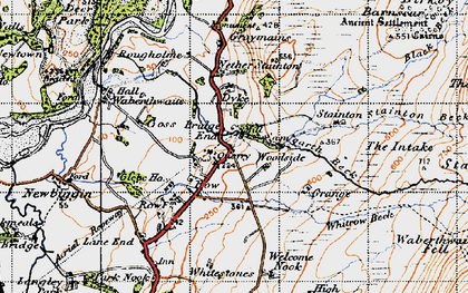Old map of Whitrow Beck in 1947
