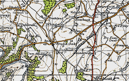 Old map of Broad Oak in 1947
