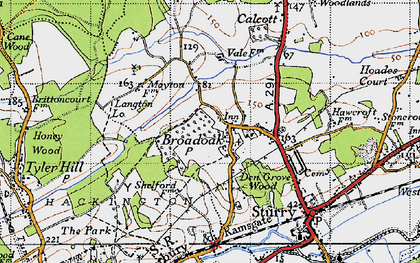 Old map of Langton Lodge in 1947