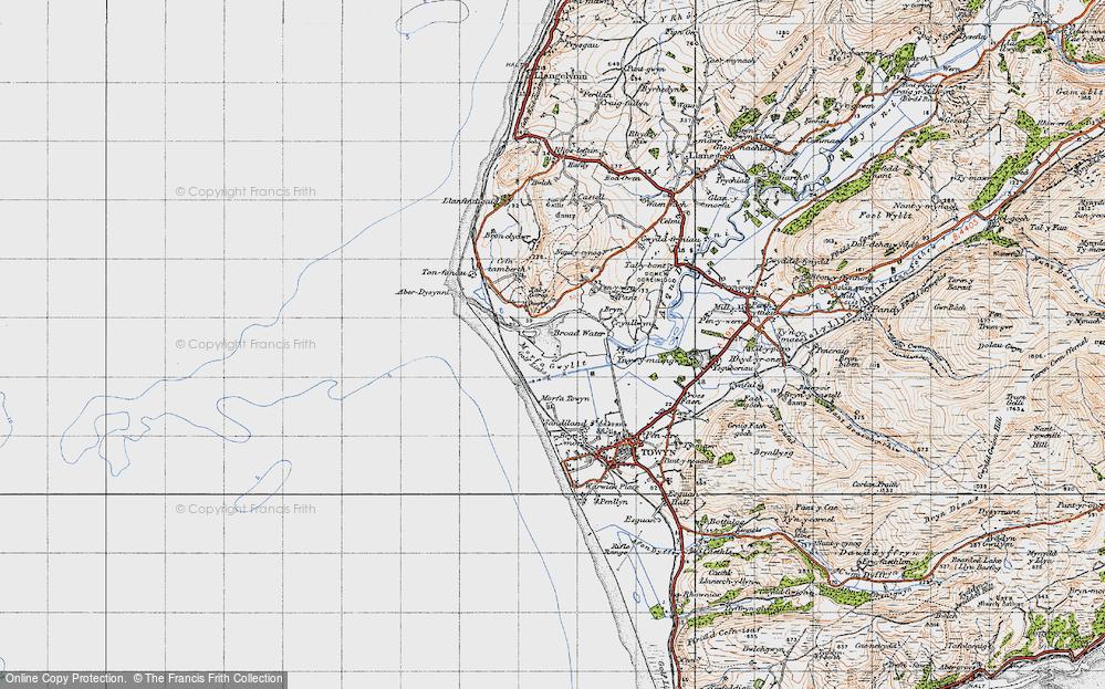 Old Map of Historic Map covering Aber Dysynni in 1947