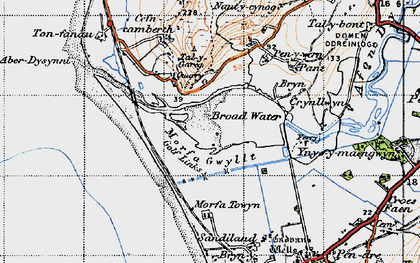 Old map of Aber Dysynni in 1947
