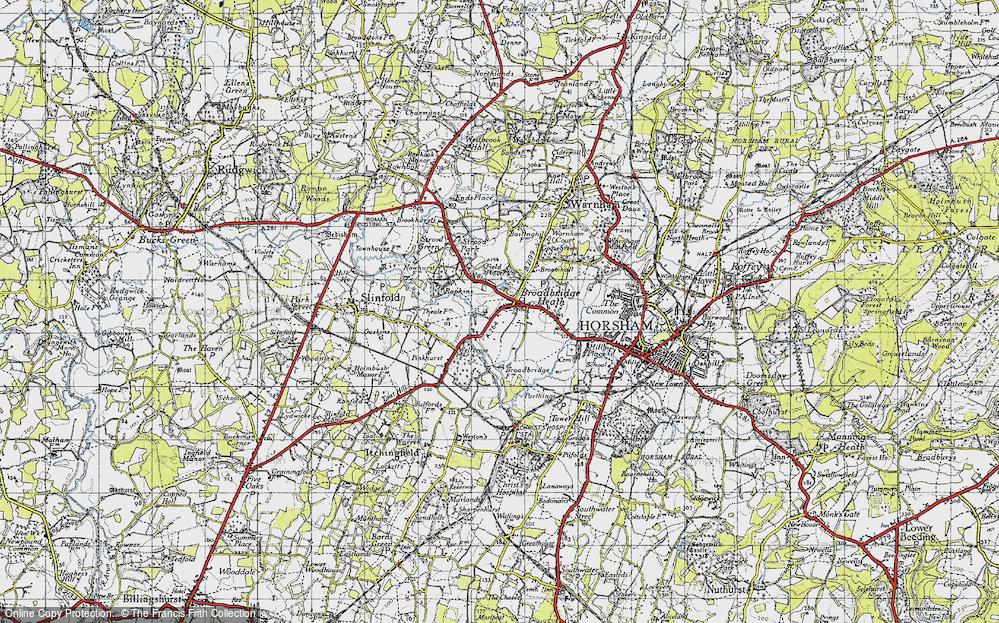 Old Map of Broadbridge Heath, 1940 in 1940