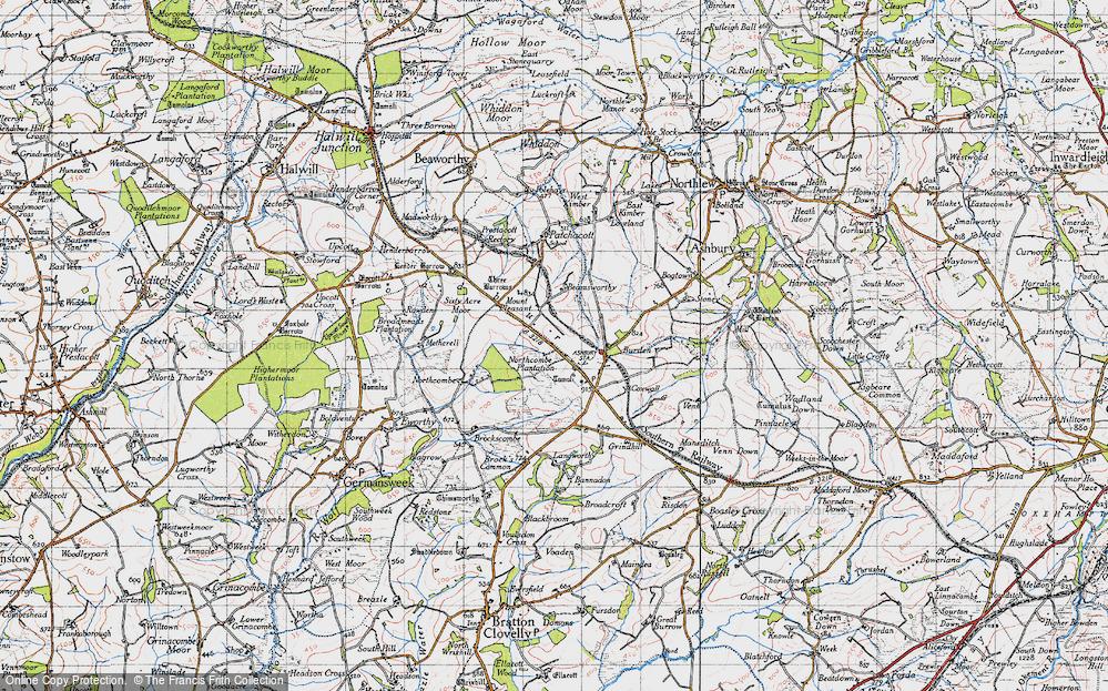 Old Map of Broadbury, 1946 in 1946