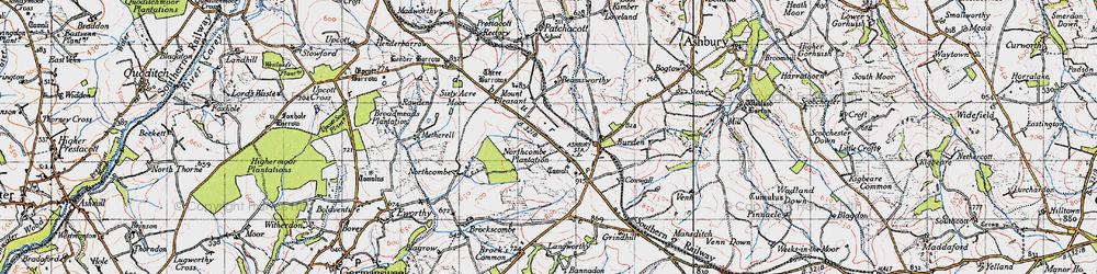 Old map of Broadbury in 1946