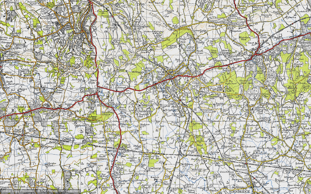 Old Map of Broadham Green, 1946 in 1946