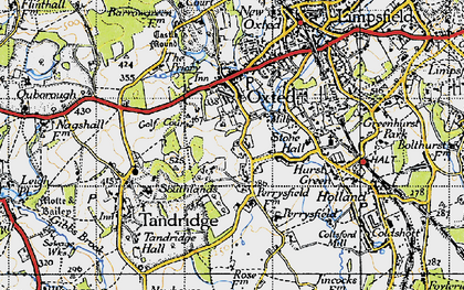 Old map of Broadham Green in 1946
