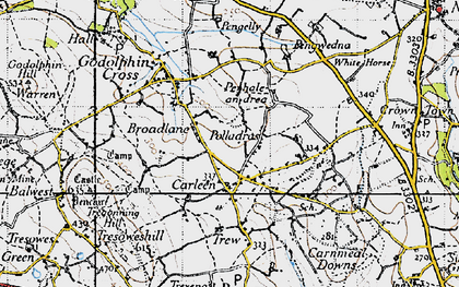 Old map of Wheal Vor in 1946