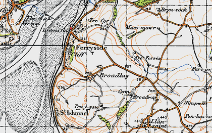 Old map of Broadlay in 1946