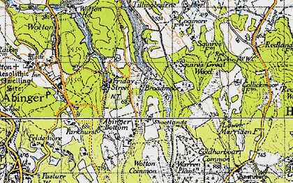 Old map of Wotton Common in 1940