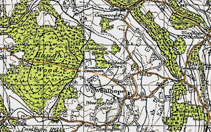 Old map of Broadmoor Common in 1947