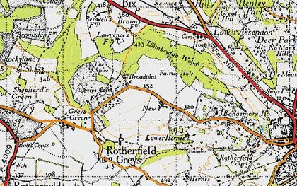 Old map of Broadplat in 1947