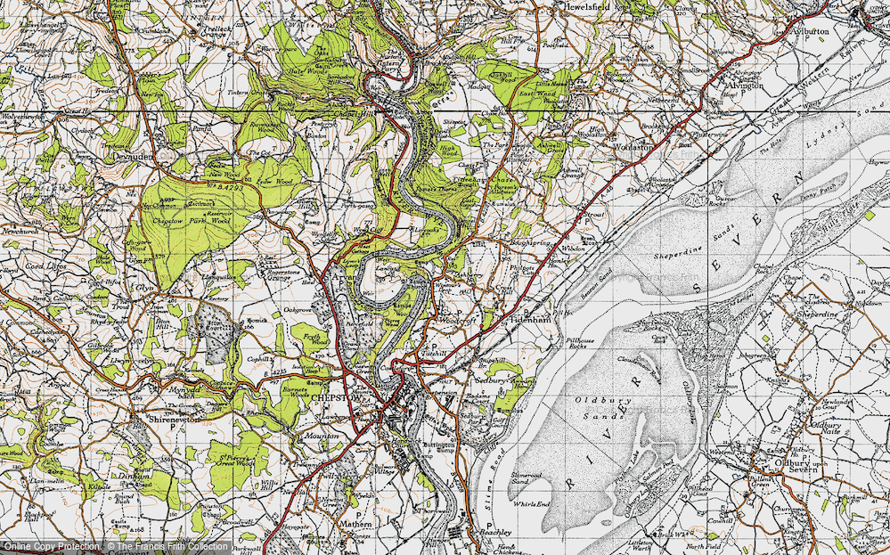 Old Map of Historic Map covering Ashberry Ho in 1946
