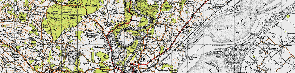 Old map of Wintour's Leap in 1946