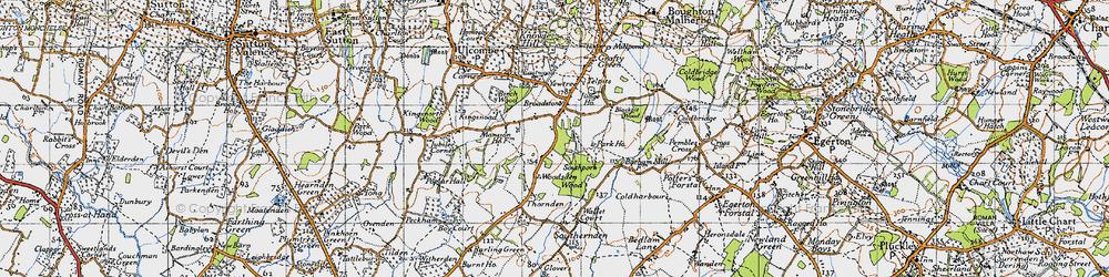 Old map of Woodsden in 1940