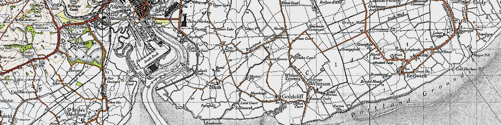 Old map of Broadstreet Common in 1946