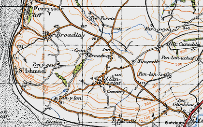 Old map of Broadway in 1946