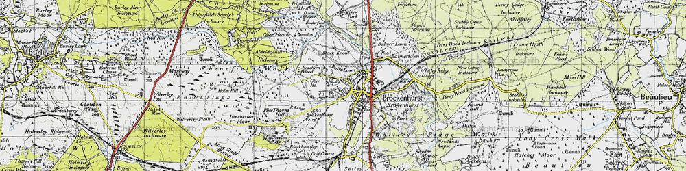 Old map of Brockenhurst in 1940