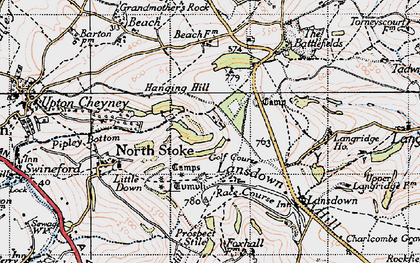 Old map of Brockham End in 1946