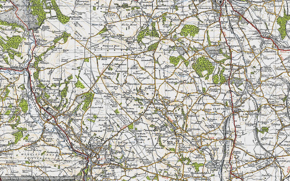 Old Map of Historic Map covering Alicehead in 1947