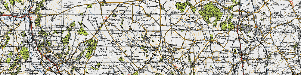 Old map of Alicehead in 1947