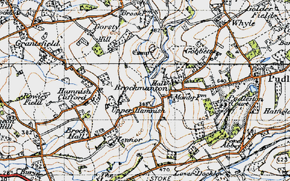 Old map of Bach in 1947