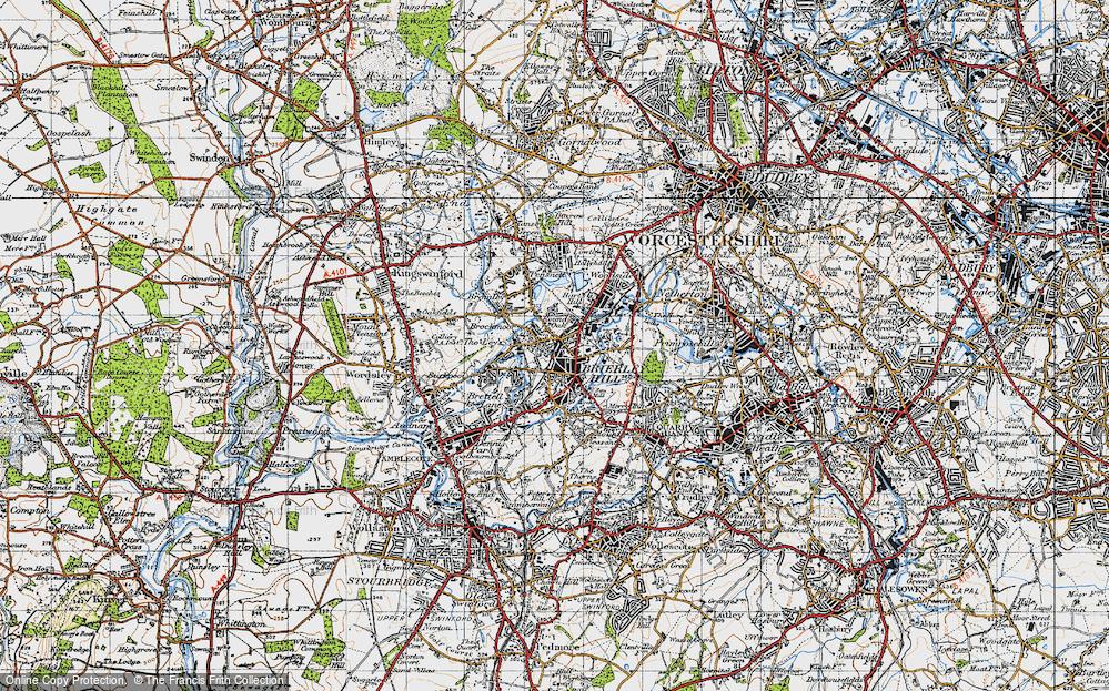 Old Map of Brockmoor, 1946 in 1946