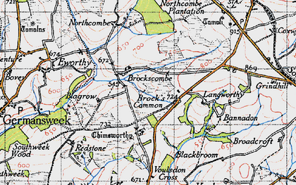 Old map of Bannadon in 1946