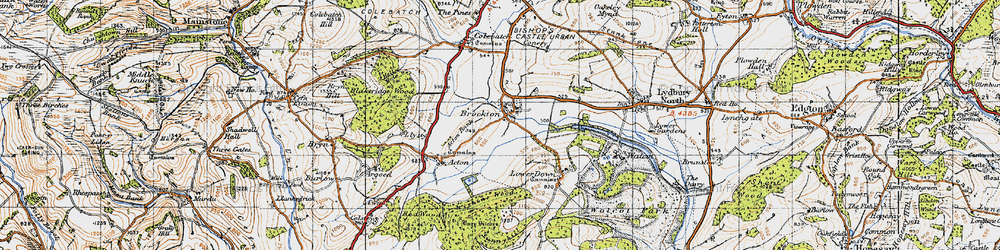Old map of Acton Bank in 1947