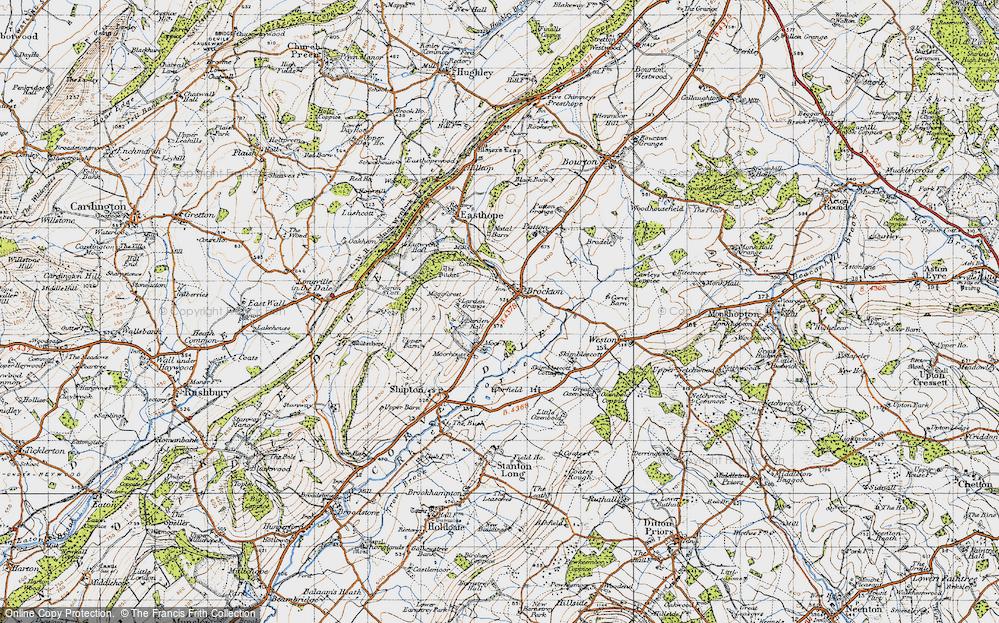 Old Map of Historic Map covering Larden Grange in 1947