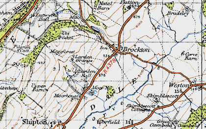 Old map of Larden Hall in 1947