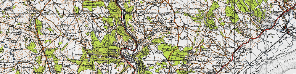 Old map of Brockweir in 1946