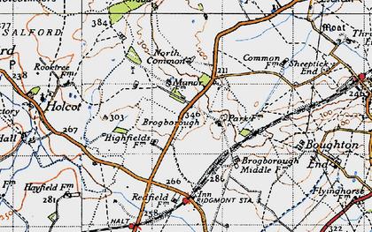 Old map of Brogborough in 1946